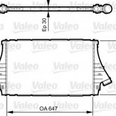 Intercooler, compresor SAAB 9-3 limuzina 1.9 TiD - VALEO 818840 - Intercooler turbo