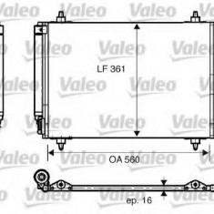 Condensator, climatizare PEUGEOT 407 limuzina 2.0 - VALEO 817824 - Radiator aer conditionat