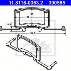 Arc, etrier frana BMW 7 limuzina 760 i, Li - ATE 11.8116-0353.2 - Arc - Piston - Garnitura Etrier