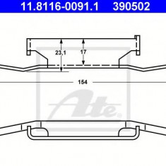 Arc, etrier frana BMW 3 limuzina M3 2.3 - ATE 11.8116-0091.1 - Arc - Piston - Garnitura Etrier