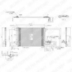 Condensator, climatizare AUDI TT 45 TFSI - DELPHI TSP0225482 - Radiator aer conditionat