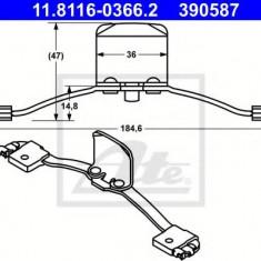 Arc, etrier frana VOLVO S80 I limuzina 2.9 - ATE 11.8116-0366.2 - Arc - Piston - Garnitura Etrier