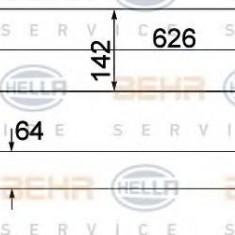 Intercooler, compresor MERCEDES-BENZ B-CLASS B 180 Turbo - HELLA 8ML 376 924-001 - Intercooler turbo