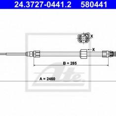 Cablu, frana de parcare MERCEDES-BENZ SPRINTER 2-t bus 208 D - ATE 24.3727-0441.2