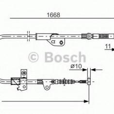 Cablu, frana de parcare NISSAN PRIMERA Break 1.6 16V - BOSCH 1 987 477 755