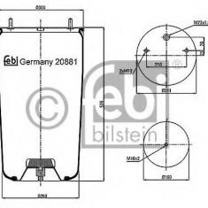 Burduf, suspensie pneumatica - FEBI BILSTEIN 20881