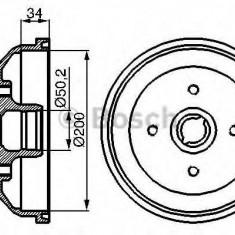 Tambur frana VAUXHALL CORSA Mk I 1.6 i 16V - BOSCH 0 986 477 040 - Saboti frana auto