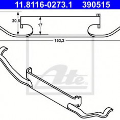 Arc, etrier frana BMW X3 xDrive 20 d - ATE 11.8116-0273.1 - Arc - Piston - Garnitura Etrier