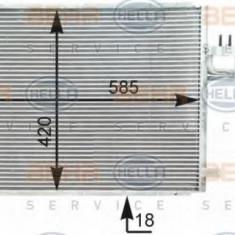 Condensator, climatizare KIA CARENS Mk II 2.0 CRDi - HELLA 8FC 351 303-001 - Radiator aer conditionat