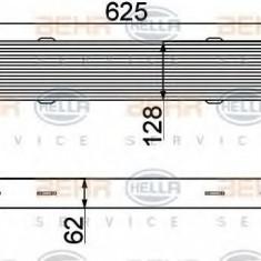 Intercooler, compresor MERCEDES-BENZ C-CLASS T-Model C 250 CGI - HELLA 8ML 376 777-091 - Intercooler turbo