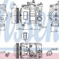 Compresor, climatizare AUDI A6 limuzina 2.5 TDI - NISSENS 89049 - Compresoare aer conditionat auto