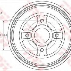Tambur frana RENAULT MEGANE I 1.4 e - TRW DB4214MR - Saboti frana auto