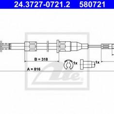 Cablu, frana de parcare OPEL CORSA A TR 1.0 - ATE 24.3727-0721.2