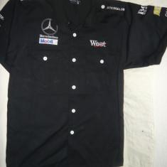 Bluzon -al Echipei curse auto Mercedes Benz Mobil 1-West Michelin, masura S - Tricou echipa fotbal, Marime: S, Culoare: Nero