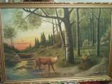 PICTURA ULEI -  CAPRIOARE PE INSERAT - V. STUPARIU, Natura, Realism