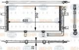 Condensator, climatizare VW TRANSPORTER / CARAVELLE Mk IV bus 2.5 Syncro - HELLA 8FC 351 301-151