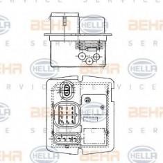 Rezistor, ventilator habitaclu RENAULT KANGOO 1.2 - HELLA 9XX 009 122-051 - Motor Ventilator Incalzire