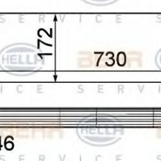 Intercooler, compresor RENAULT MASTER III bus 2.3 dCi 100 FWD - HELLA 8ML 376 787-411 - Intercooler turbo