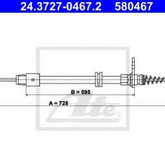 Cablu, frana de parcare MERCEDES-BENZ C-CLASS T-Model C 250 CGI - ATE 24.3727-0467.2