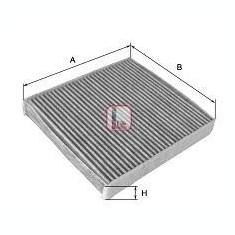 Filtru, aer habitaclu FIAT CROMA 1.9 D Multijet - SOFIMA S 4100 CA - Filtru polen SWAG