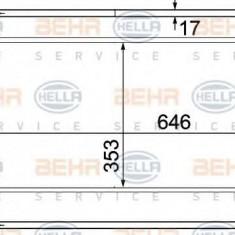 Condensator, climatizare TOYOTA LAND CRUISER 4.2 TD - HELLA 8FC 351 307-121 - Radiator aer conditionat