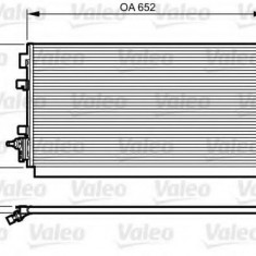 Condensator, climatizare RENAULT SCÉNIC III 1.6 dCi - VALEO 814187 - Radiator aer conditionat