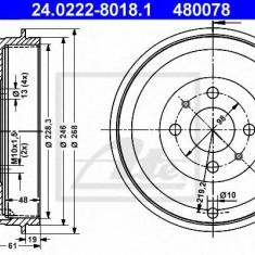 Tambur frana FIAT FIORINO caroserie inchisa/combi 1.3 D Multijet - ATE 24.0222-8018.1 - Saboti frana auto