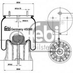 Burduf, suspensie pneumatica - FEBI BILSTEIN 45098