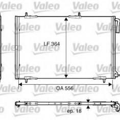 Condensator, climatizare PEUGEOT 206 Van 1.4 HDi - VALEO 818001 - Radiator aer conditionat
