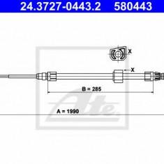 Cablu, frana de parcare MERCEDES-BENZ SPRINTER 2-t bus 208 D - ATE 24.3727-0443.2
