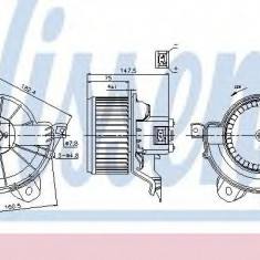 Ventilator, habitaclu OPEL CORSA D 1.4 - NISSENS 87086 - Motor Ventilator Incalzire