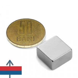 magnet neodim puternic tip bloc patrat 15*15*8 mm forta 8.6 kg