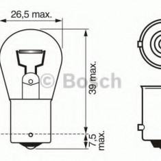 Bec, lampa mers inapoi MAZDA PREMACY 1.9 - BOSCH 1 987 302 214