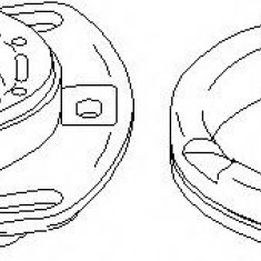 Rulment sarcina suport arc AUDI 100 limuzina 2.4 D - TOPRAN 108 564 - Rulment amortizor