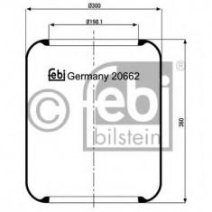Burduf, suspensie pneumatica - FEBI BILSTEIN 20662