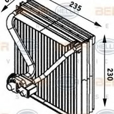 Evaporator, aer conditionat SKODA FABIA 1.4 16V - HELLA 8FV 351 211-561