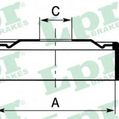 Tambur frana OPEL KADETT D combi 1.3 S - LPR 7D0140 - Saboti frana auto