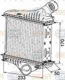 Intercooler, compresor SMART FORTWO cupe 1.0 Turbo - HELLA 8ML 376 746-081
