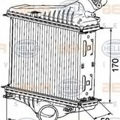 Intercooler, compresor SMART FORTWO cupe 1.0 Turbo - HELLA 8ML 376 746-081 - Intercooler turbo