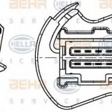 Rezistor, ventilator habitaclu OPEL MOVANO autobasculanta 2.5 DTI - HELLA 9ML 351 332-251