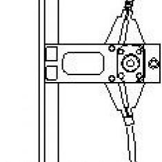 Mecanism actionare geam VW GOLF Mk III 1.9 D - TOPRAN 103 156 - Macara geam
