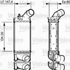 Intercooler, compresor CITROËN C5 III limuzina 1.6 HDi - VALEO 818853 - Intercooler turbo