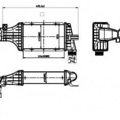 Intercooler, compresor OPEL ASTRA G combi 2.2 DTI - NRF 30428 - Intercooler turbo