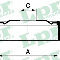 Tambur frana OPEL ASTRA G hatchback 1.6 16V - LPR 7D0560 - Saboti frana auto
