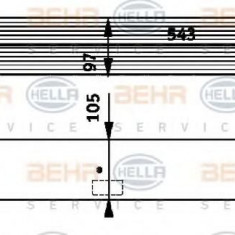 Intercooler, compresor BMW 5 limuzina 525 d - HELLA 8ML 376 723-501 - Intercooler turbo