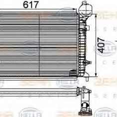 Intercooler, compresor VW CADDY III caroserie 1.9 TDI 4motion - HELLA 8ML 376 746-151 - Intercooler turbo