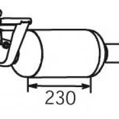Filtru funingine/particule, sist.de esapament MERCEDES-BENZ SPRINTER 3-t caroserie 209 CDI - DINEX 56347 - Filtru de particule