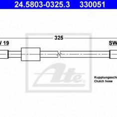Furtun ambreiaj VW CARAVELLE III bus 1.6 D - ATE 24.5803-0325.3
