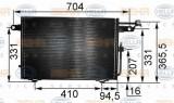 Condensator, climatizare AUDI 100 limuzina 2.4 D - HELLA 8FC 351 035-531