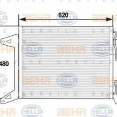Condensator, climatizare IVECO EuroTech MT 180 E 24 - HELLA 8FC 351 300-051 - Radiator aer conditionat
